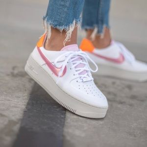 ✔️ New✔️ NIKE Air Force 1 Sage Low White Pink
